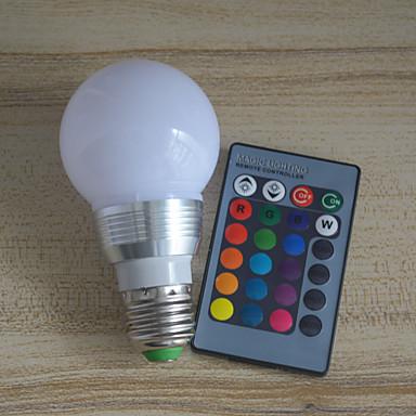 halpa LED-pallolamput-1kpl 6 W LED-pallolamput 600 lm E26 / E27 A60(A19) 6 LED-helmet Integroitu LED Himmennettävissä Kauko-ohjattava Multi-värit 220 V