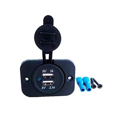 5v 3.1a двойной порт usb автомобильное зарядное устройство розетка для ipad iphone автомобиль мотоцикл лодка мобильные телефоны светодиодные розетки