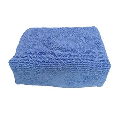 Araba temizleme mikrofiber elyaf havlu parlatma bloğu balmumu sünger 12x8x4 cm