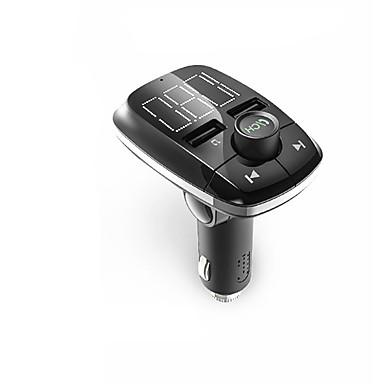 Büyük ekran ile bluetooth el-serbest cep telefonu gerilim algılama t50 fm verici hızlı şarj 2.4a bluetooth mp3 çalar