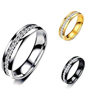 voordelige Herensieraden-Heren Dames Bandring Ring Staartring 1pc Goud Zwart Zilver Titanium Staal Cirkelvormig Standaard Modieus Lahja Dagelijks Sieraden Cool