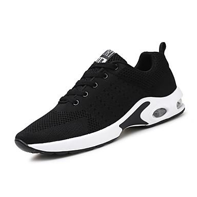 Erkek Ayakkabı Tissage Volant İlkbahar yaz / Sonbahar Kış Sportif / Klasik Atletik Ayakkabılar Koşu / Yürüyüş Günlük / Dış mekan için Siyah / Mavi / Gri / Dörtgen Uçlu