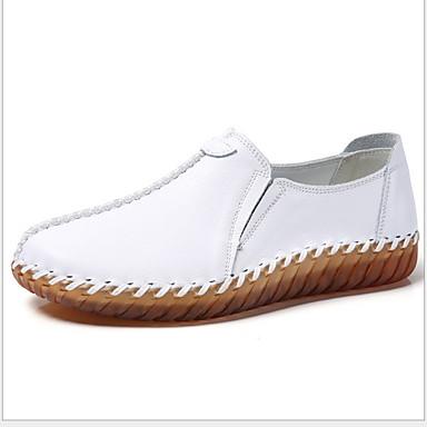 Kadın's Düz Ayakkabılar Düz Taban Yuvarlak Uçlu Patentli Deri Sonbahar Siyah / Beyaz / Kahverengi