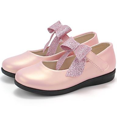 baratos Sapatos de Criança-Para Meninas Couro Rasos Little Kids (4-7 anos) / Big Kids (7 anos +) Bailarina / Sapatos para Daminhas de Honra Branco / Rosa claro / Champanhe Primavera / Outono