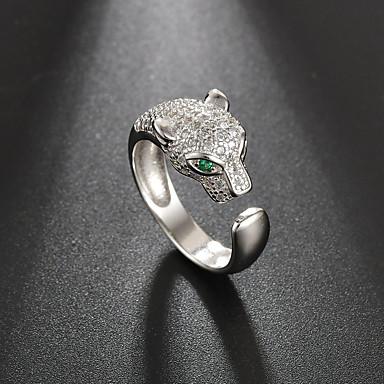billige Motering-Dame Ring Åpne Ring Kubisk Zirkonium 1pc Sølv Sølv Matte Black Enkel Klassisk Vintage Daglig Gate Smykker Klassisk Skulptur Kul Smuk