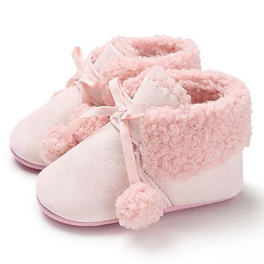 baratos Para Crianças de 0-9 Meses-Para Meninas Lona Botas Crianças (0-9m) / Criança (9m-4ys) Primeiros Passos Preto / Cinzento / Rosa claro Inverno