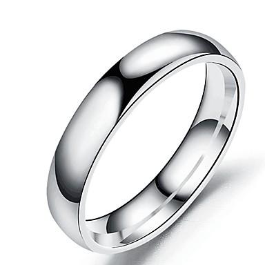 voordelige Herensieraden-Heren Dames Bandring Ring Staartring 1pc Zwart Zilver Goud Rose Roestvast staal Titanium Staal Cirkelvormig Standaard Modieus Lahja Dagelijks Sieraden Cool