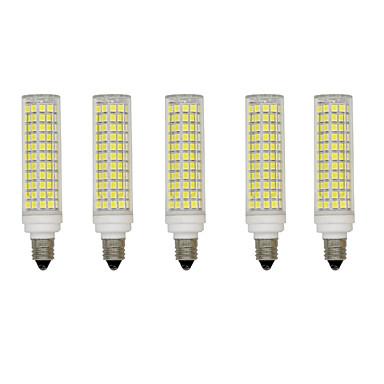cheap Light Bulbs-5pcs 13 W LED Corn Lights 300 lm E11 T 134 LED Beads SMD 2835 Warm White White 110-130 V