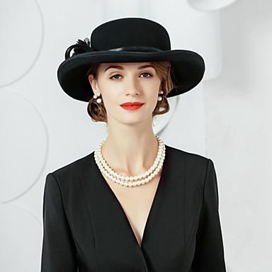 abordables Coiffes-100% Laine Chapeaux avec Fleur 1pc Décontracté / Usage quotidien Casque