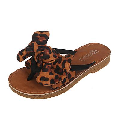 voordelige Damespantoffels & slippers-Dames Slippers & Flip-Flops Platte hak Suède Zomer Rood / Roze / Khaki