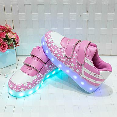 baratos Sapatos de Criança-Para Meninas Couro Ecológico Tênis Little Kids (4-7 anos) Conforto Azul / Rosa claro Primavera / Outono