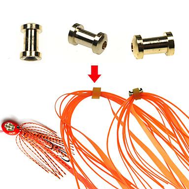 Медные детали скольжения рыбалка рыболовное снаряжение люциан юбки и резиновый галстук мула расходные материалы