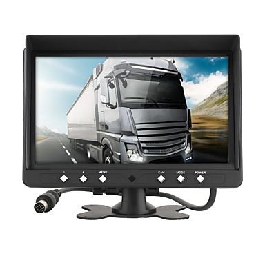 voordelige Automatisch Electronica-dc 12v / 24v 9 inch parkeermonitor met 4ch 4pin hd video-ingang monitors auto quad split monitor voor vrachtwagen caravan bestelwagens camera