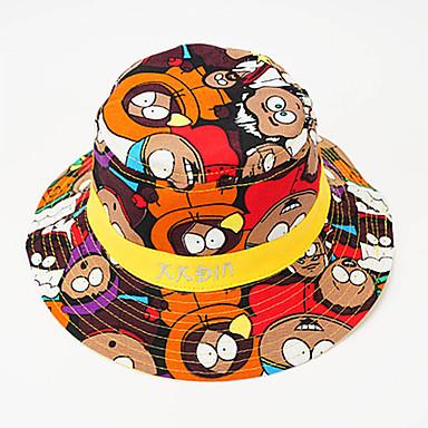 voordelige Kinderaccessoires-Peuter Jongens / Meisjes Vintage / Actief / Standaard Kleurenblok / dier / Cartoon Stijlvol Katoen Hoeden & Petten Zwart / Rood / Geel Een maat