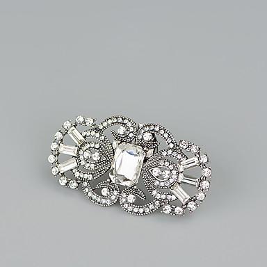 billige Skotilbehør-2pcs Rhinestones Dekorative detaljer Dame Vår Bryllup / Daglig Svart / Gull / Sølv / Rhinsten