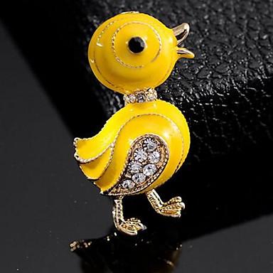Kadın's Broşlar Ördek sevimli Stil Broş Mücevher Sarı Uyumluluk Günlük