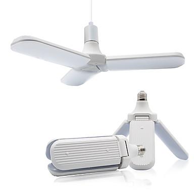 abordables Ampoules électriques-e27 led ampoule super lumineux pliable angle de pale de ventilateur plafonnier réglable maison économie d'énergie lumière 36 w