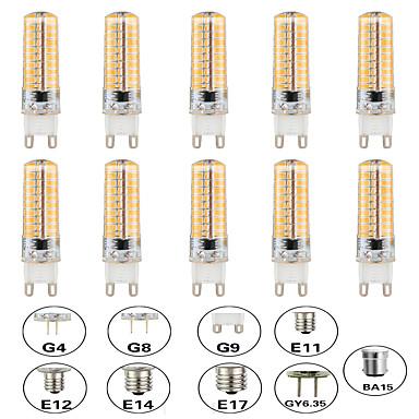 abordables Ampoules électriques-10pcs 5 W Ampoules Maïs LED LED à Double Broches 500 lm E14 G9 G4 T 80 Perles LED SMD 3014 Intensité Réglable Design nouveau Blanc Chaud Blanc 220-240 V 110-120 V