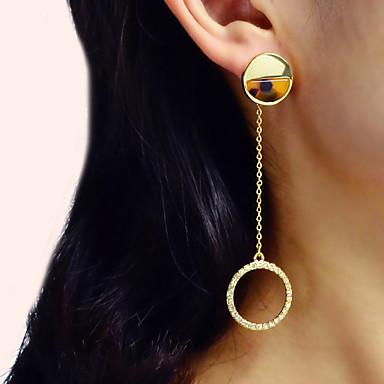 Kadın's Damla Küpeler Geometrik Dikey Romantik Zarif Küpeler Mücevher Altın Uyumluluk Parti Karnaval Cadde Çalışma 1 çift