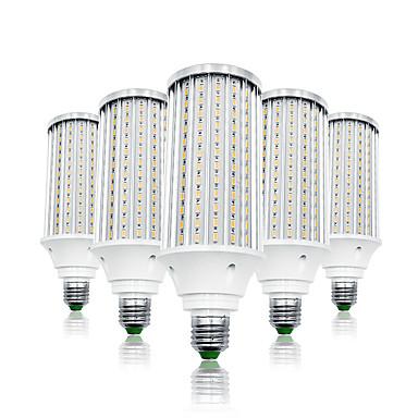 abordables Ampoules électriques-LOENDE 5pcs 80 W Ampoules Maïs LED 8000 lm E26 / E27 T 216 Perles LED SMD 5730 Blanc Chaud Blanc 85-265 V