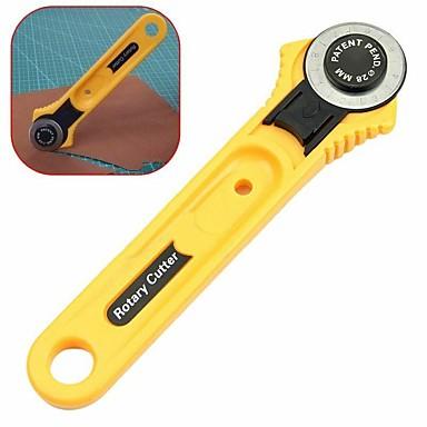 billige Forbrukerelektronikk-gult roterende kutter 28mm sirkulært kuttet lappetepper stoff skinn håndverk