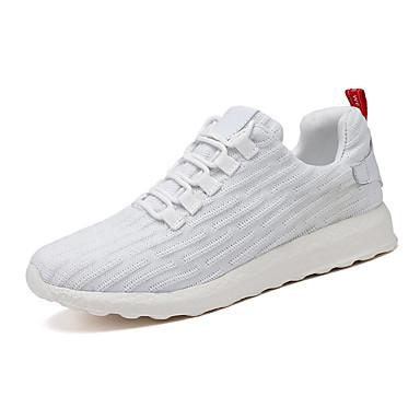 Erkek Ayakkabı Tissage Volant Bahar Günlük Atletik Ayakkabılar Yürüyüş Günlük için Siyah / Beyaz