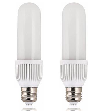 billige Elpærer-2pcs 50 W LED-kornpærer 1800 lm E26 / E27 T 180 LED perler SMD 2835 Nytt Design Varm hvit Hvit 200-240 V