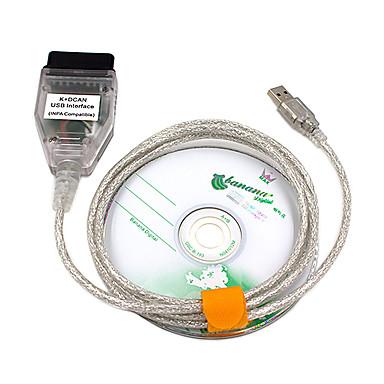 saihisday kdcan obd2 kabelska sklopka ftdi ft232rl alati inpa ediabas ncs expert ista w / cd driver odgovara bmw vozilima inpa k dcan car obd kabel za bmw - srebrna 1m