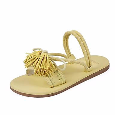 Kadın's Sandaletler Düz Taban PU Yaz Sarı / Pembe / Bej
