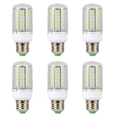 6pcs 15 W LED Mısır Işıklar 300 lm E14 B22 E26 / E27 T 138 LED Boncuklar SMD 4014 Yeni Dizayn Sıcak Beyaz Beyaz 220-240 V 110-130 V
