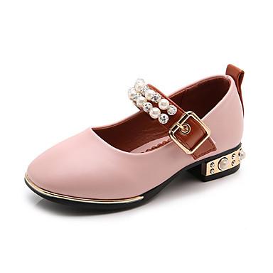povoljno Cipele za djevojčice-Djevojčice PU Cipele na petu Dijete (9m-4ys) / Mala djeca (4-7s) Obuća za male djeveruše Biser / Kopča Crn / Pink / Bež Ljeto