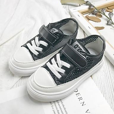 baratos Sapatos de Criança-Para Meninos / Para Meninas Com Transparência Tênis Little Kids (4-7 anos) Conforto Preto / Branco Verão