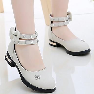 baratos Sapatos de Criança-Para Meninas Couro Ecológico Saltos Little Kids (4-7 anos) Conforto Verde / Rosa claro / Bege Primavera