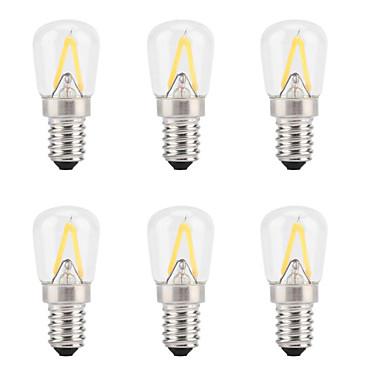 6pcs 2 W LED Filaman Ampuller 300 lm E14 2 LED Boncuklar Yeni Dizayn Sıcak Beyaz 200-240 V