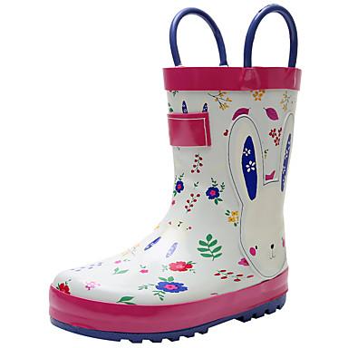 baratos Sapatos de Criança-Para Meninos / Para Meninas PVC Botas Little Kids (4-7 anos) / Big Kids (7 anos +) Botas de Chuva Verde / Branco / Laranja Primavera / Outono
