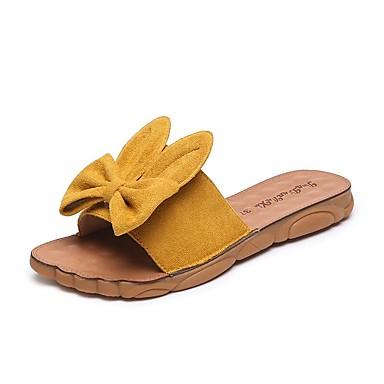 voordelige Damessandalen-Dames Sandalen Platte hak Open teen Dierenprint PU Chinoiserie / minimalisme Zomer / Herfst Zwart / Kristal / Geel