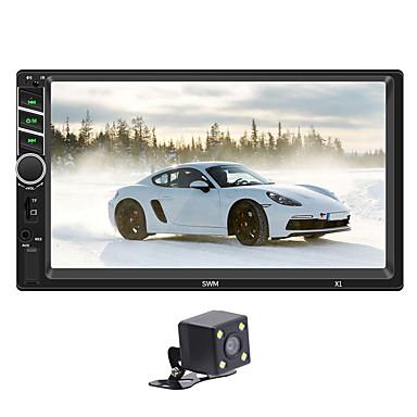 voordelige Automatisch Electronica-x1 12 v auto mp5 speler fm radio bt aux usb met stuurwiel controller kleurrijke hd capacitieve scherm