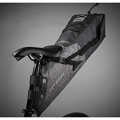 billige Sykkelvesker-Mountainpeak 14 L Saltasker Justerbare Stor kapasitet Vanntett Sykkelveske TPU 600D Nylon Sykkelveske Sykkelveske Sykling Sykkel / Refleksbånd