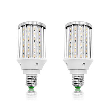 billige Elpærer-LOENDE 2pcs 30 W LED-kornpærer 3000 lm E26 / E27 T 108 LED perler SMD 5730 Varm hvit Hvit 85-265 V