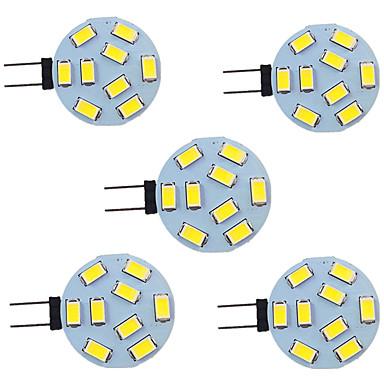 abordables Ampoules électriques-5pcs 2 W LED à Double Broches 280 lm G4 9 Perles LED SMD 5730 9-30 V