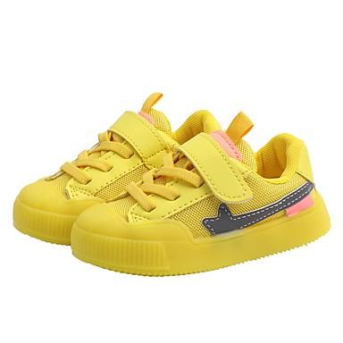 baratos Sapatos de Criança-Para Meninos Com Transparência Tênis Little Kids (4-7 anos) Conforto Corrida Verde / Branco / Amarelo Outono