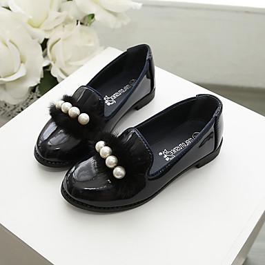 baratos Sapatos de Criança-Para Meninas Couro Ecológico Mocassins e Slip-Ons Little Kids (4-7 anos) / Big Kids (7 anos +) Conforto Caminhada Laço Vinho / Azul Primavera / Outono
