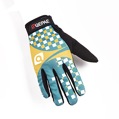 abordables Gants Velo-QEPAE Gants vélo / Gants Cyclisme Anti-Shake Vestimentaire Anti-dérapant Gants sport Bleu + jaune. pour Adulte Cyclisme sur Route Activités Extérieures Gants d'activité & du sport