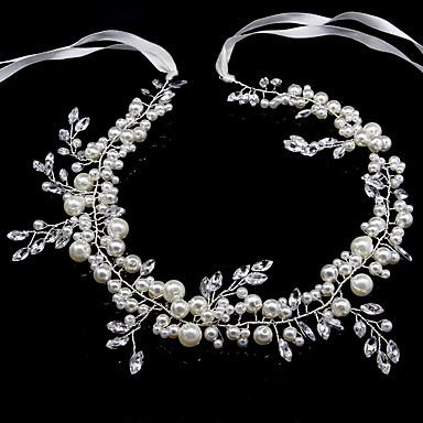 billige Hodeplagg til fest-Perle pannebånd med Perledetaljer / Krystall / Rhinstein 1 Deler Bryllup / Dagligdagstøy Hodeplagg