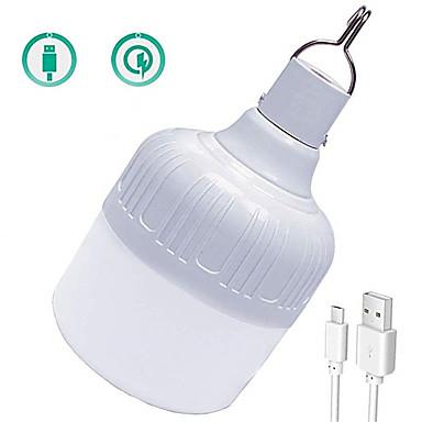 abordables Ampoules électriques-1pc 30 W Ampoules Globe LED 1000 lm USB 72 Perles LED SMD 5730 Imperméable Rechargeable Intensité Réglable Blanc 5 V