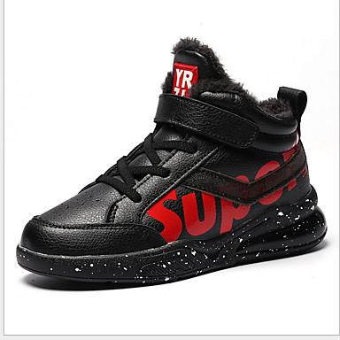 baratos Sapatos de Criança-Para Meninos Couro Ecológico Tênis Big Kids (7 anos +) Conforto Basquete Verde / Vermelho Inverno