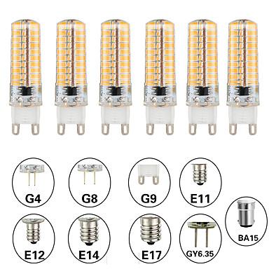 abordables Ampoules électriques-6pcs 5 W Ampoules Maïs LED LED à Double Broches 500 lm E14 G9 G4 T 80 Perles LED SMD 3014 Intensité Réglable Design nouveau Blanc Chaud Blanc 220-240 V 110-120 V