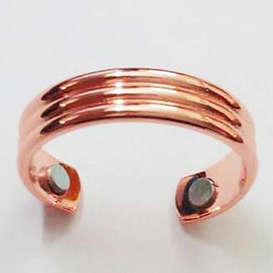 voordelige Herensieraden-Heren Open Ring Verstelbare ring 1pc Zwart Goud Rose Koper Verguld Geometrische vorm Eenvoudig Modieus Dagelijks Werk Sieraden Klassiek Kostbaar Cool