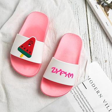baratos Sapatos de Criança-Para Meninas PVC Chinelos e flip-flops Little Kids (4-7 anos) Conforto Amarelo / Azul / Rosa claro Verão