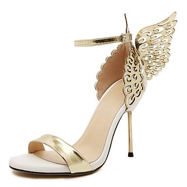Kadın's Sandaletler Stiletto Topuk Sentetikler İngiliz / Minimalizm İlkbahar & Kış / Yaz Altın / Gümüş / Düğün / Parti ve Gece